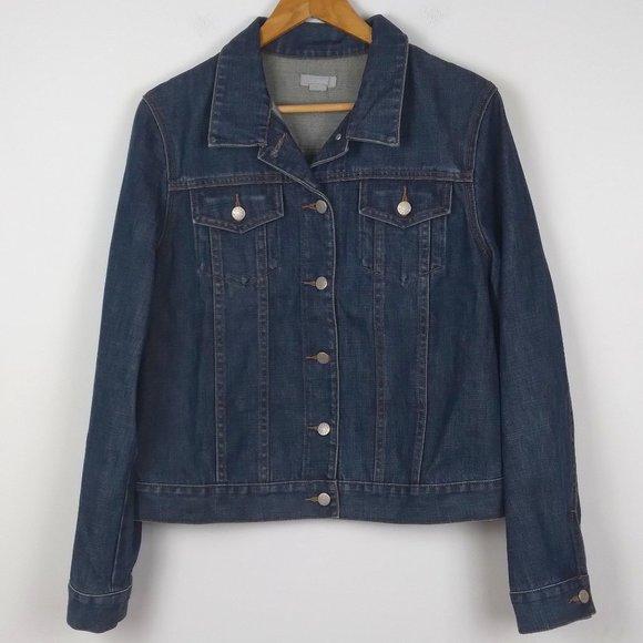 J. Crew Dark Wash Denim 100% Cotton Jean Jacket